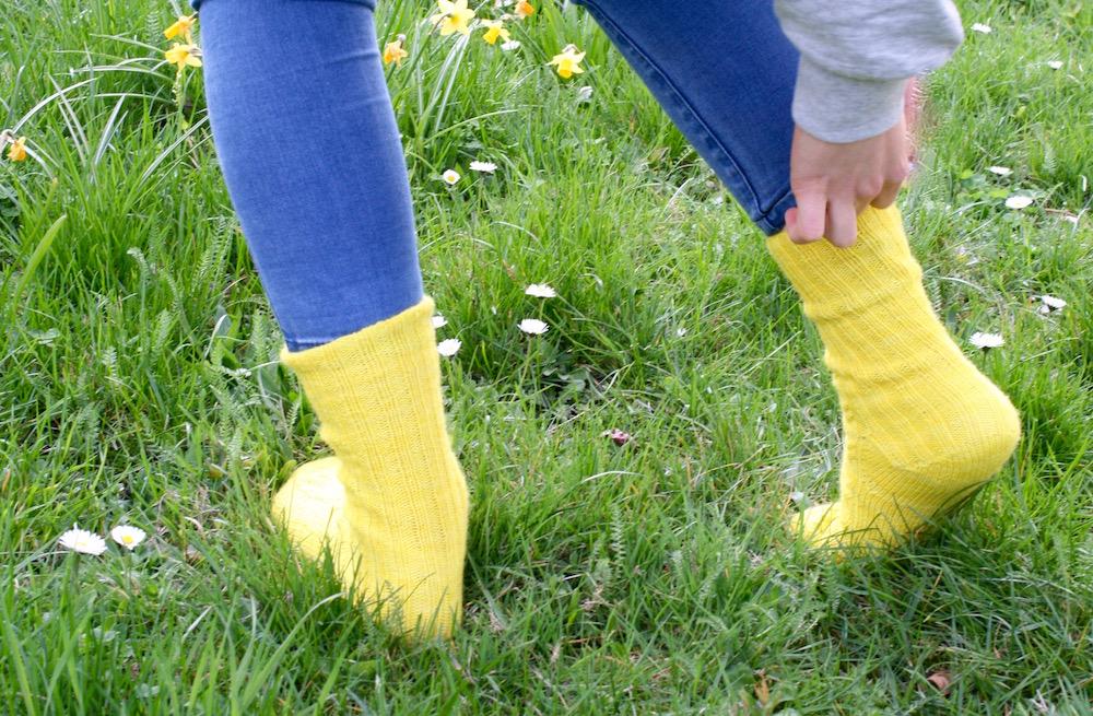 Daffodilzsockz Socken von der Zehenspitze stricken