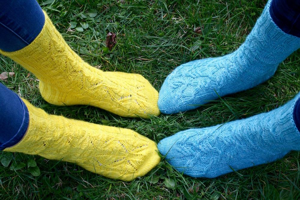 Socken von der Zehenspitze stricken